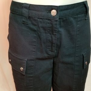 Michael Kors Size 12 Navy Front Zip Walking Shorts